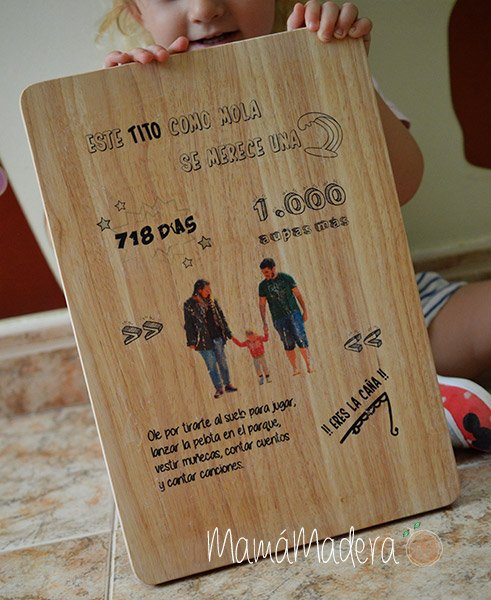 Lámina personalizada de madera Aniversario 3