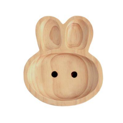 plato madera conejo