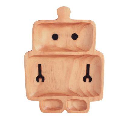 plato madera robot