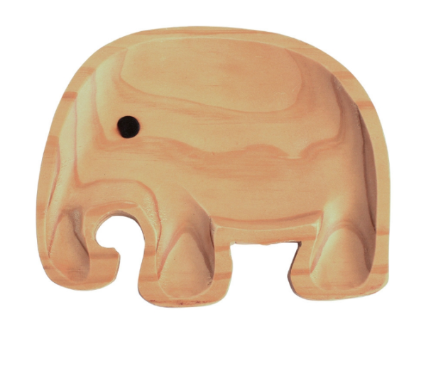 Plato Madera Eco-Friendly Elefante 3