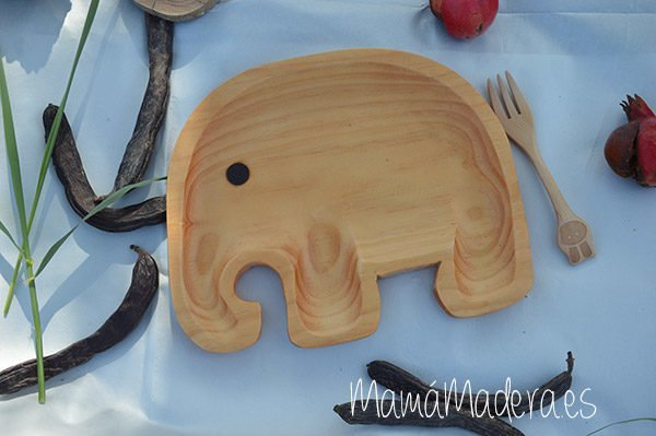 Plato Madera Eco-Friendly Elefante 1