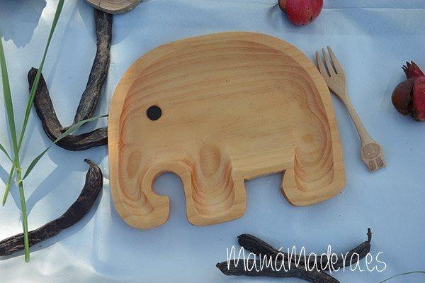 Plato Madera Eco-Friendly Elefante 1