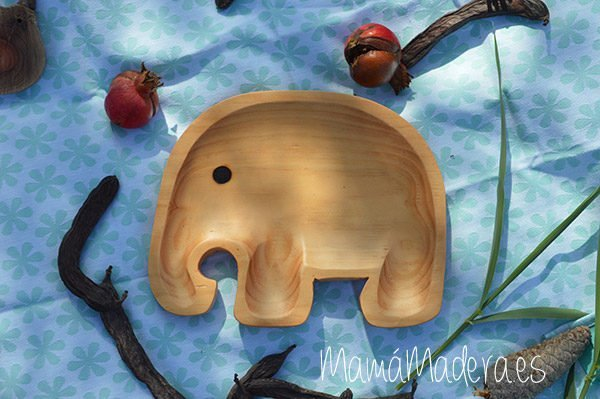 Plato Madera Eco-Friendly Elefante 2
