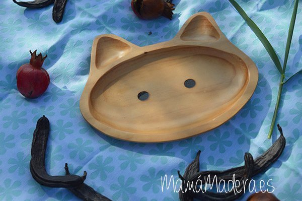 Plato Madera Eco-Friendly Gato 4