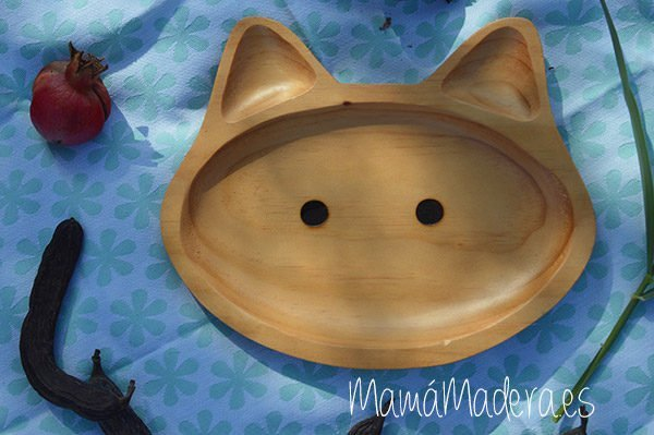 Plato Madera Eco-Friendly Gato 1