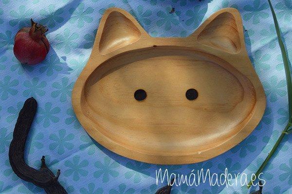 Plato Madera Eco-Friendly Gato 1