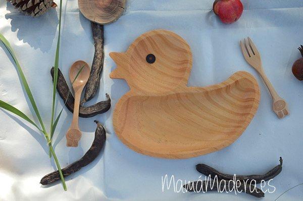Plato Madera Eco-Friendly Pato 1