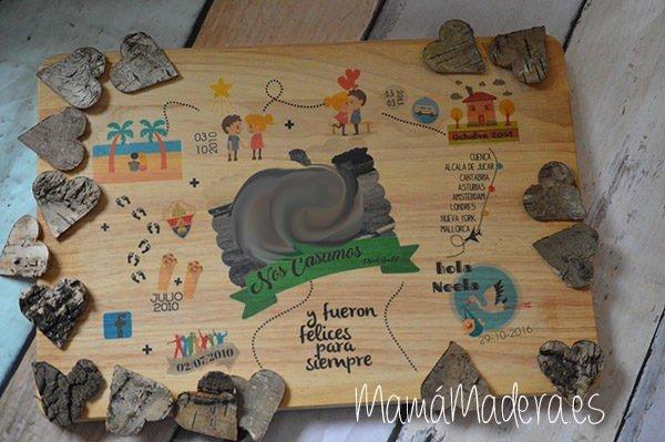 Lámina personalizada de madera Aniversario 4