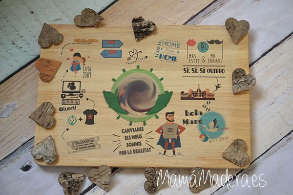 Lámina personalizada de madera Momento Especiales 6