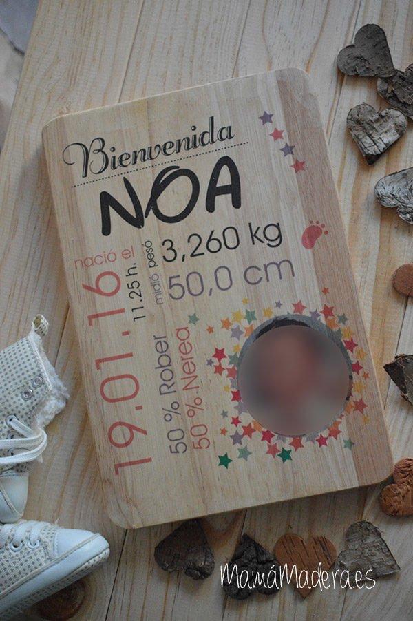 Lámina personalizada de madera Nacimiento 2