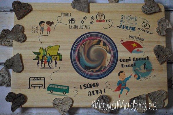 Lámina personalizada de madera Momento Especiales 4