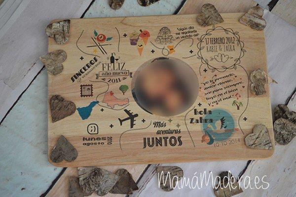 Lámina personalizada de madera Aniversario 15