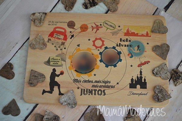Lámina personalizada de madera Aniversario 14