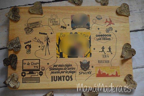 Lámina personalizada de madera Aniversario 13