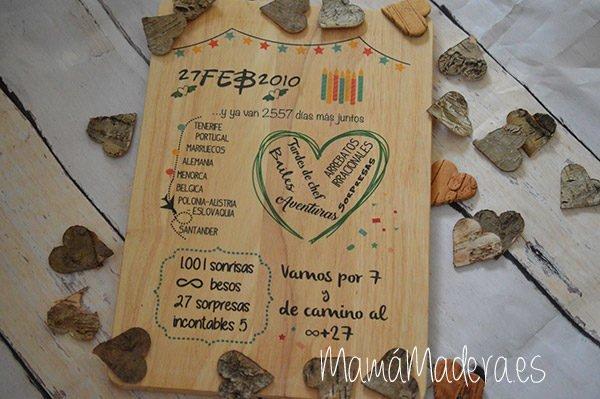 Lámina personalizada de madera Aniversario 11