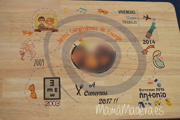 Lámina personalizada de madera Aniversario 8