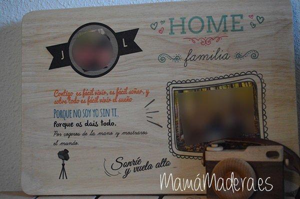 Lámina personalizada de madera Aniversario 6