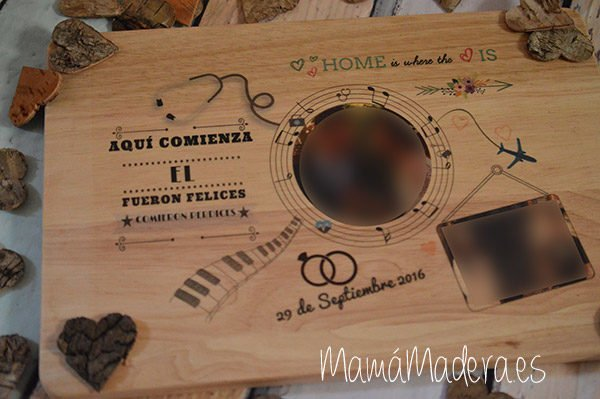 Lámina personalizada de madera Aniversario 5