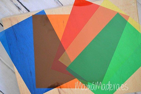 Acetatos translúcidos de colores 1