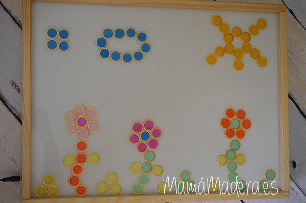 100 fichas de colores con aro metálico 3