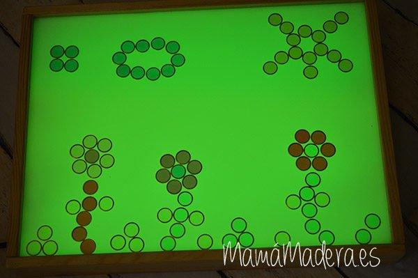 100 fichas de colores con aro metálico 5