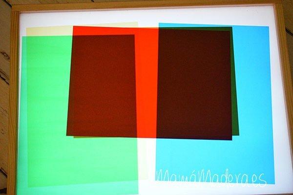 Acetatos translúcidos de colores 2