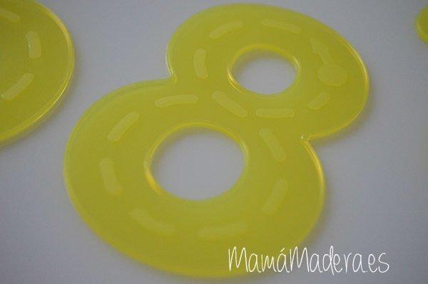 Numeros de silicona Amarillo 2