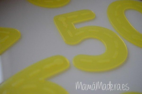 Numeros de silicona Amarillo 1