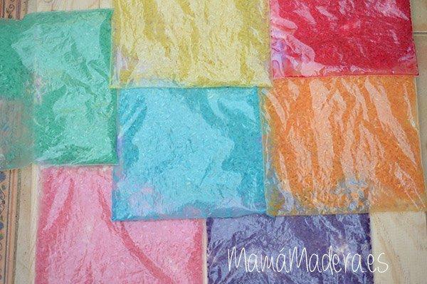 DIY Arroz de colores 15