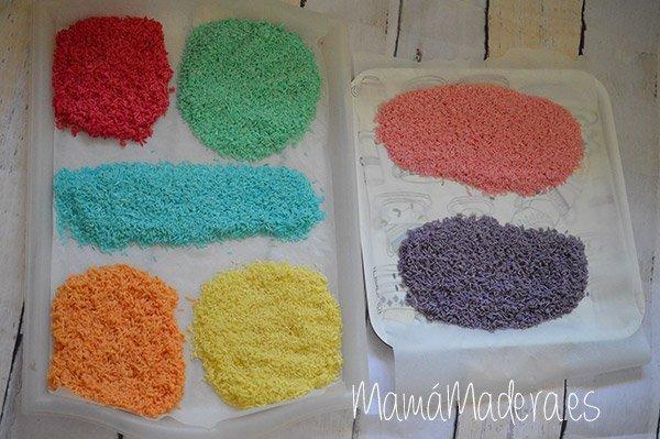 DIY Arroz de colores 16