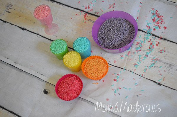 DIY Arroz de colores 2