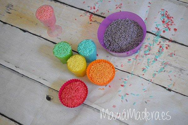 DIY Arroz de colores