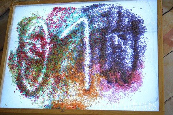 DIY Arroz de colores 19