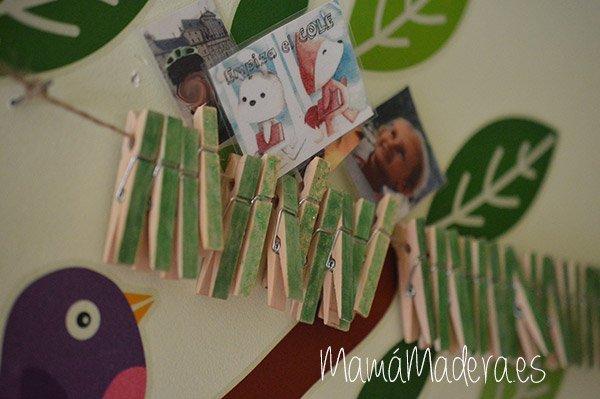Calendario anual de pinzas de madera 18