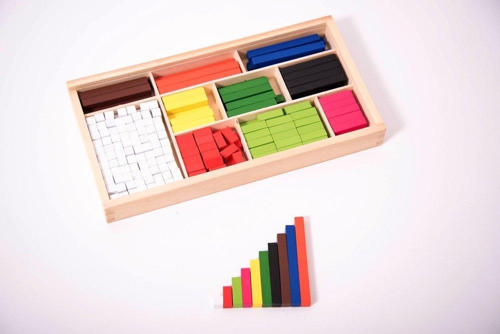 Regletas de madera Cuisenaire de diferentes longitudes para las matemáticas 9