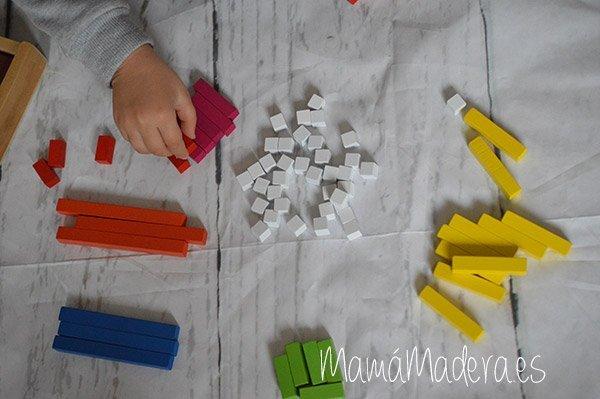 Regletas de madera Cuisenaire de diferentes longitudes para las matemáticas 2