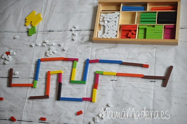 Regletas de madera Cuisenaire de diferentes longitudes para las matemáticas 4