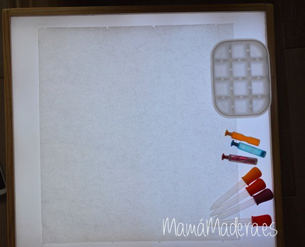 Gotas de agua en la caja de luz 3