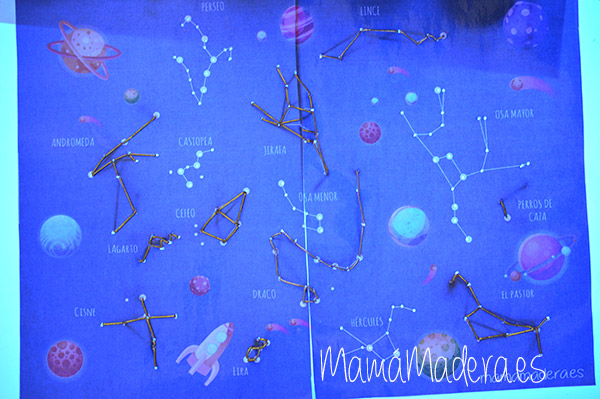 Estrellas y constelaciones en la caja de luz 12