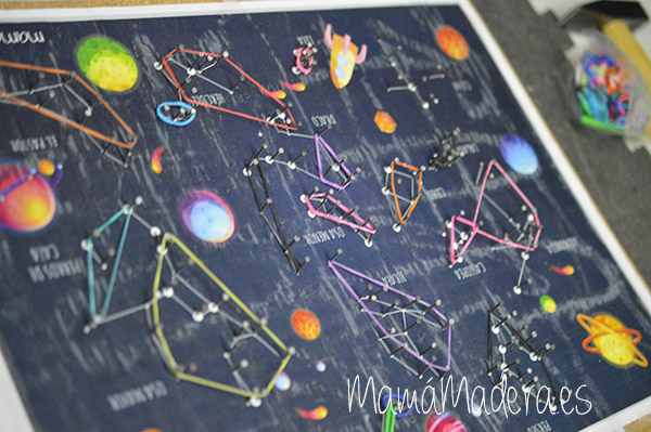 Estrellas y constelaciones en la caja de luz 26