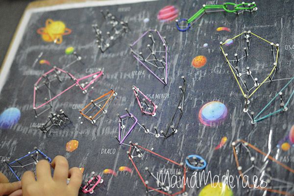 Estrellas y constelaciones en la caja de luz 27