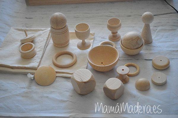 Piezas grandes de madera para la bolsa de los tesoros 4