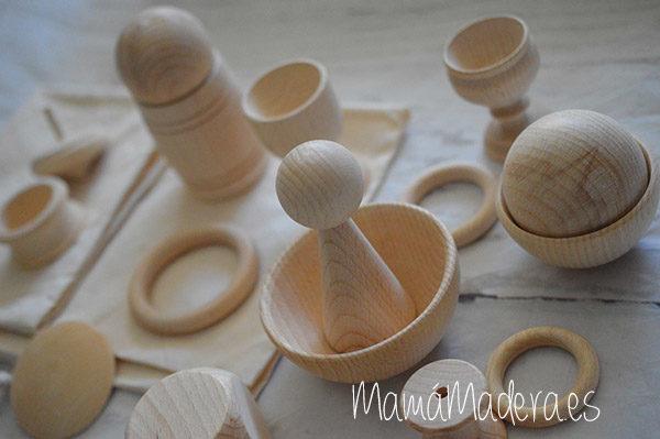 Piezas grandes de madera para la bolsa de los tesoros 3