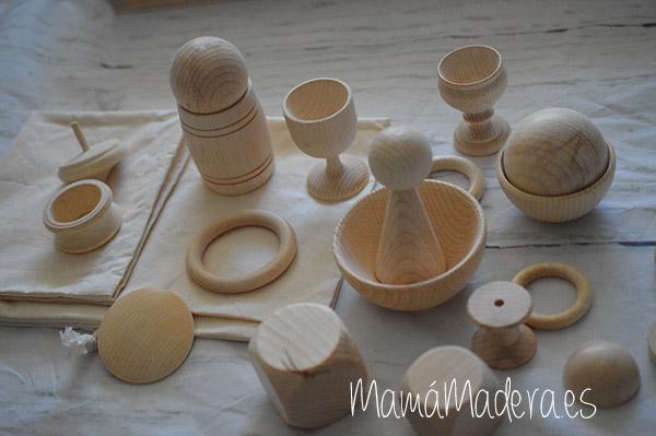 Piezas grandes de madera para la bolsa de los tesoros 1
