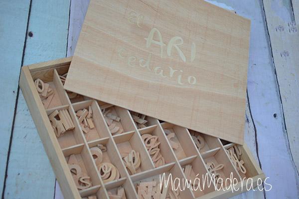 Letras alfabeto de madera - lectoescritura 1