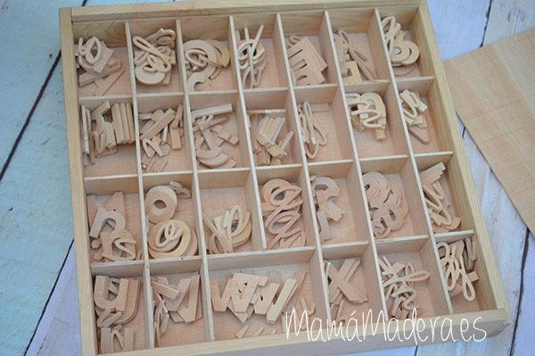Letras alfabeto de madera - lectoescritura 2
