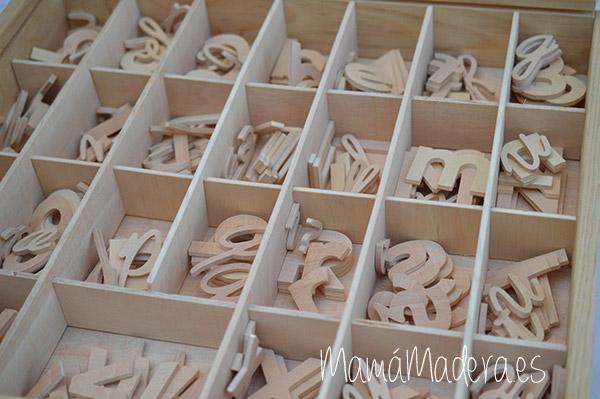 Letras alfabeto de madera - lectoescritura 4