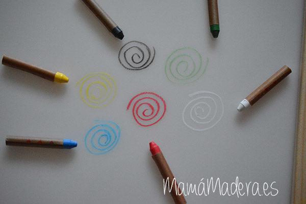 Caja de ceras de colores no tóxicas 6