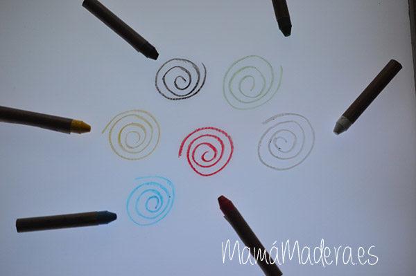 Caja de ceras de colores no tóxicas 7