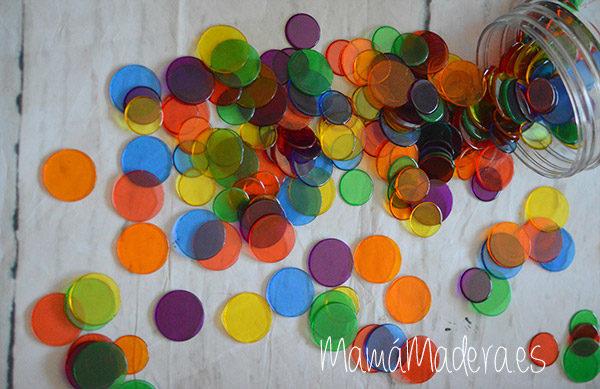 500 Círculos de Colores Translúcidos 3